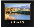 Golf Course Scenic Art Photo | Goals Motivational Poster Print