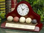 Golf Balls History Clock   Nostalgic Sports Exective Desk Gift