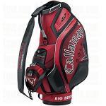 Callaway Diablo Staff Bag | Pro Red Leather Nylon Tour Bag