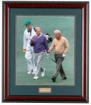 Jack and Arnie at the Masters | Arnold Palmer Jack Nicklaus Framed Print 2805F