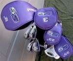 Ladies Full Golf Club Set, Petite S5 | Stand Bag Purple Head Covers