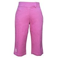 Girls Pink Capri Pants, Juniors Twill