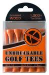PGA European Tour Golf Tees | Wood Orange Unbreakable