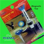 Pixma Magnetic Golf Tee w/ Anchor Peg | Plastic Zero Friction Unbreakable