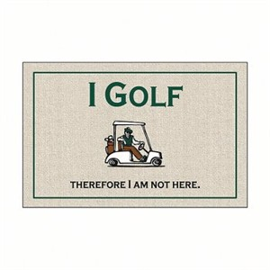Funny Golf Doormat