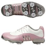 Adidas Tour Metal Ladies Shoes w/ Cleats | Women's Golf Shoe, Arch Support Pink