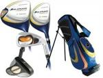 Orlimar Fury Junior Golf Set | Youth LH w/ Driver, Hybrids, Iron, Putter & Stand Bag